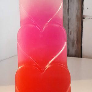 Heart Candle, Stripes